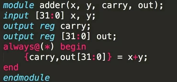 32 bits 加法器的 Verilog 范例