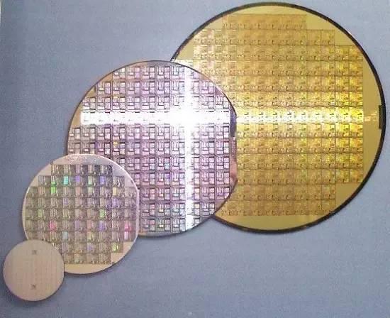 各种尺寸晶圆的比较